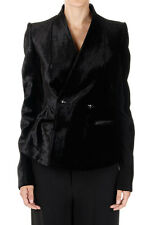 RICK OWENS HOLLYWOOD Woman Mixed Wool Virgin Double Breasted Jacket