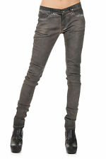 RICK OWENS DRKSHDW New Women TULSA CUT Cotton Blend Pants Jeans Denim Made italy