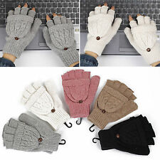 NS Winter Women Men Soft Fingerless Gloves Mittens Knitted Glove Hand Warmer