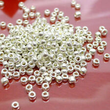 Wholesale 500/1000X Silver Plated Charm Metal Loose Spacer Beads Making DIY 2mm