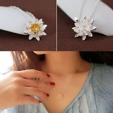 Elegant Flower Ladies Lotus Necklaces Jewelry For Women Collar Choker Necklace