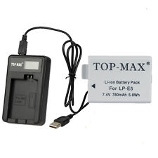 LP-E5 Battery / USB charger For Canon EOS 450D 500D 1000D Digital Rebel Xsi T1i