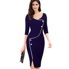 Women Casual Pinup Elegant Wear To Work Business Bodycon Pencil Dress !!!