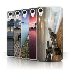 STUFF4 Phone Case/Back Cover for HTC Desire 728 /English Seaside