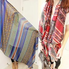 Retro For Women Graceful Voile Soft Silk Scarf Beach Shawl Scarves Bohemian