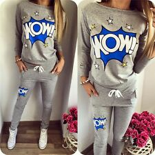 Full tracksuit womens jogger track pants and Hoodie Sweatshirt jogging suits top