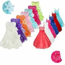 Flower Girl Kid Wedding Bridesmaid Formal Party Pageant Princess Ball Gown Dress