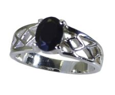 Black Oynx 925 sterling silver Ring L-1.2in beauteous Black jewelry AU K,M,O,Q