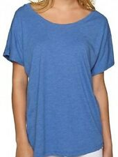 Next Level Womens's 6760 TRI-BLEND DOLMAN T-Shirt Vintage Royal S & M