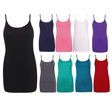 Girls Ladies Strappy Camisole Vest Shirt Top Women Long Sleeve Tops&Vests 8-26