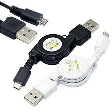 Micro USB A to USB 2.0 B Male Retractable Cable Data Sync Charger Cord
