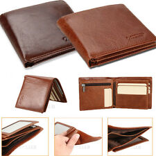 2017 New Genuine Leather Mens Wallet ZIPPER Coin Purse Vintage Retro Style