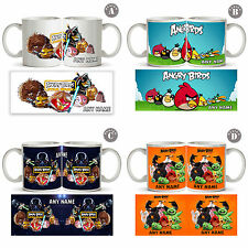 ANGRY BIRDS Personalised Ceramic Mug cup tea coffee Any Name Text kids Gift New