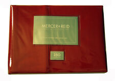 Luxury Myer 250TC Percale Sheet Set Single , Double Size Bed Chilli Red