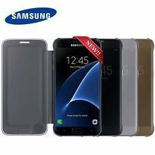 New Authentic Genuine Official SAMSUNG GALAXY S7 Clear View Case Cover EF-ZG930