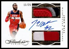 2015-16 Panini Flawless Dual Patch Autographs 11/25 John Wall