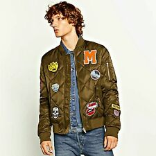ZARA Man BNWT Authentic ZARA Quilted Bomber Jacket With Patches 4803/360