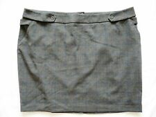 BNWT NEXT Ladies Grey check tailored pencil skirt work office smart size 24