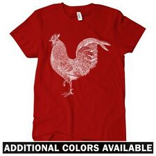 Rooster Women's T-shirt S-2X - Gift Cock a Doodle Doo Farm Animal Hen Chicken