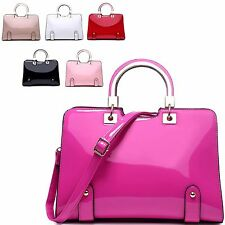 Ladies Designer Fx Patent Handbag Grab Bag Evening Shoulder Bag Tote Bag MK5733