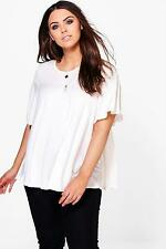 Boohoo Womens Plus Hayley Ruffle T Shirt