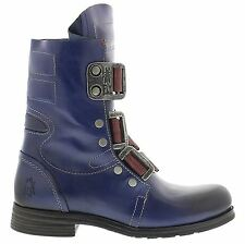 Fly London Stif Rug Blue Womens Boots