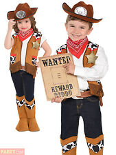 Childs Cowboy Costume Boys Girls Western Fancy Dress Cowgirl Wild West Outfit