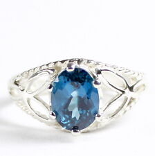 London Blue Topaz, 925 Sterling Silver Ring-Handmade, SR137