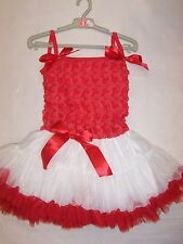 BNWT GIRLS ROSE PARTY DRESS - SIZE 2 TO 7 RED & PINK