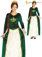Ladies Medieval Queen Costume Adults Game of Thrones Fancy Dress Tudor Outfit