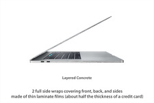 Stickerboy Macbook Pro 13, 15 Touch Bar Sides Skins Carbon Fiber Metal Leather
