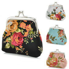 Women Flower Coin Wallet Change Purse Hasp Canvas Clutch Small Wallet Bags CHI