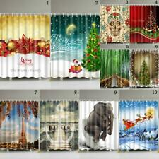 Assorted Patterns Bathroom Waterproof Shower Bath Curtain Panel Divider180x180cm