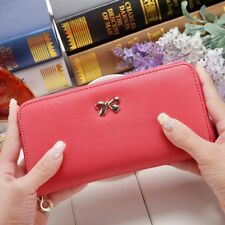 Women Wallet Purses Fashion Zipper Cute Leather Solid Coin Clutch Phone Bag