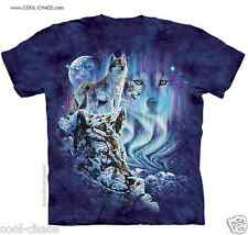 Hidden Wolves Wolf T-Shirt/Blue Tie Dye Tee,Wolves,Wolf,Borealis,Find 10 Wolves