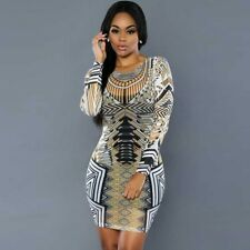 Women's Printing Package Hip High Elastic Cultivate One's Morality Dress