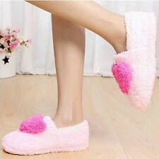 Womens Lovely Home Floor Soft Indoor Slippers Outsole Cotton Warm Casual Shoes