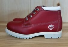 VINTAGE TIMBERLAND BOOTS NELLIE CHUKKA RED WOMENS WMNS SZ 8.5-9  22389 L