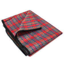 All-Purpose Outdoor Red Plaid Picnic Camping Beach Concert Blanket - Select Size