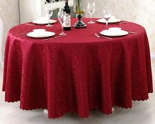 Hot 60''-120'' Round Polyester Tablecloth Wedding Banquet Restaurant Table Cover