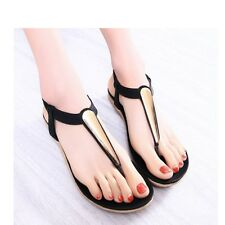 Woman Flip Flop Flat Fashion Beach Slipper Sandals |UK|