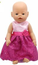 Princess Dress Doll Clothes Fit 43cm Baby Born Zapf Doll Clothes