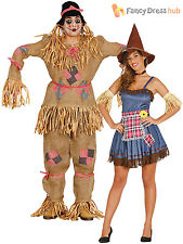 Adults Scarecrow Costume Mens Ladies Oz Fairytale Fancy Dress Book Week Outfit