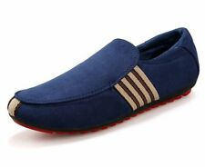 Men Casual Loafers Slip on Breathable  Solid Rounded Toe Flock Shoe