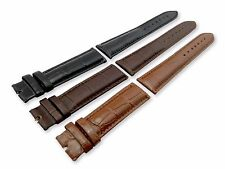 For Tissot Watch Genuine Croco Leather Strap Band Brown Black 18mm 19mm 20mm