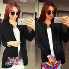 Womens Ladies Fashion Outwear Long Sleeve Blazer Cardigan Coat Overcoat Jacket