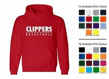 Clippers Basketball Sports Team Adult Hooded Sweatshirt
