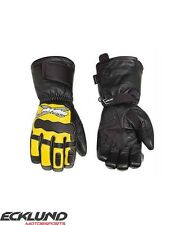 NEW 2017 SKI-DOO X-TEAM LEATHER GLOVES MENS SUNBURST - 446219__96