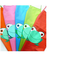 Cute Kids Child Waterproof Apron Cartoon Frog Printed Painting Cooking Apron New