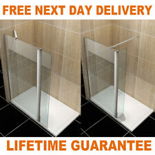 Walk in Shower Enclosure Wet room Screen Panel and Tray&Waste with Flipper Panel